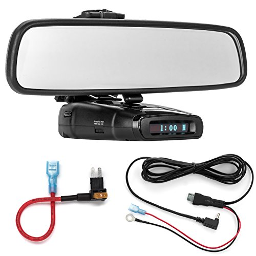 Amazing Deal Radar Mount Mirror Mount Bracket + Direct Wire Power Cord + Micro2 Fuse Tap for Whistle...