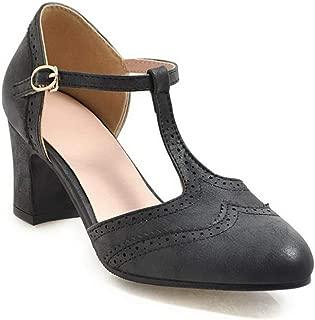 BalaMasa Womens ASL06566 Pu Block Heels