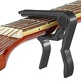 capotasto chitarra alloy capo per chitarra acustica elettrica classica bass ukulele violino capotasto per chitarra (nero)