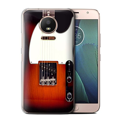 Stuff4 Hülle/Case für Motorola Moto E4 Plus 2017 / Sunburst Electric Muster/Gitarre Kollektion