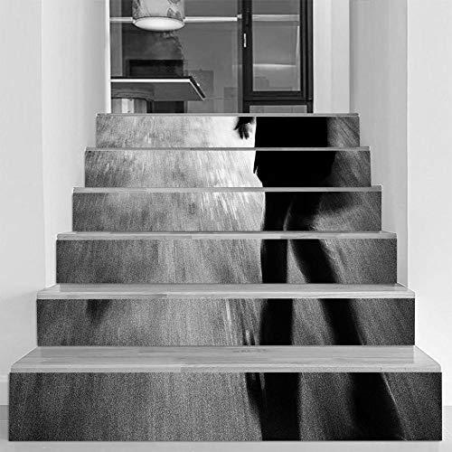 skwff 3D Habitaciones Etiqueta De Puerta Murales Carteles Pegatinas Pared Diy Decoraciones Decoraciones de silueta de Halloween diseño de casa embrujada fantasmas de terror sala de estar centro