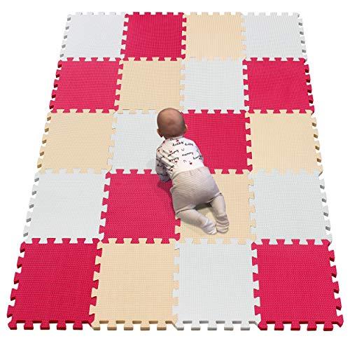 YIMINYUER Puzzlematte für Kinder aus rutschfestem Eva - große Spielmatte zusammensteckbar, jedes...