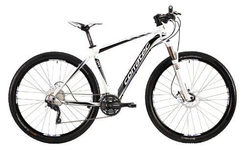 Corratec Herren Fahrrad MTB X Vert 29 02, Weiß/Schwarz/Blau, 44, BK17029-0044
