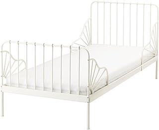 IKEA/イケア MINNEN 伸長式ベッドフレーム すのこ付き ホワイト 子供用。マットレスは別売りです。39124617(391.246.17 )