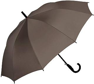 Light Parasol Semi-Automatic Straight Handle Long Handle Umbrella Men's Rain and Rain Dual-use Business Men and Women Umbrella Portable (Color : Brown)
