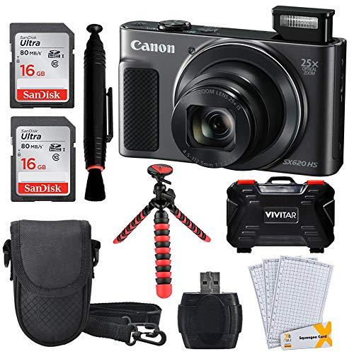Canon PowerShot SX620 HS Digital Camera (Black) with Wi-Fi Full Accessory Bundle!