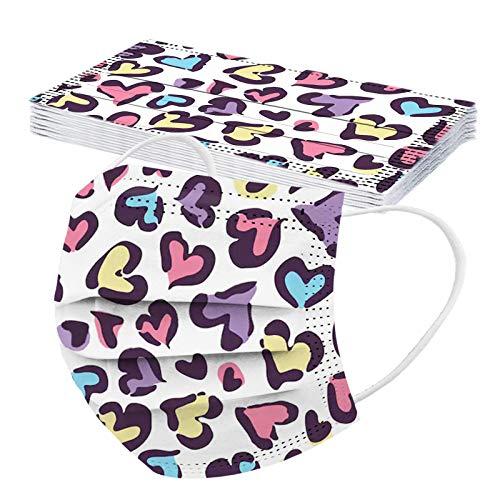 10/20/30/50pc Unisex Erwachsene Schal Universal Fashion 3 Schicht Valentine Herzen gedruckt niedlich elastische Nereloop Schal -21123-27