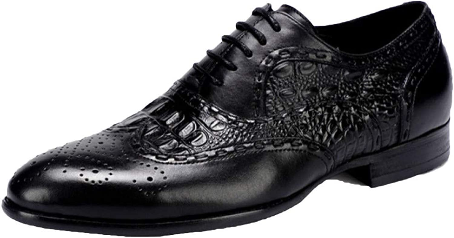 Oxford skor Mens Comfort bspringaa Working Lace Up Patent Leather Brogues skor Andable Business skor Points Carved Formal Wear