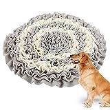 Dandelionsky Dog Snuffle Mat Training Toy, Flower Shape Pet Snuffle Feeding Mat Encourages Natural...