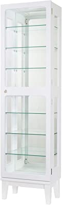 塩川光明堂 鍵付き コレクションケース カルトーネ フロートKEY1500PW ホワイト 41x25x150cm