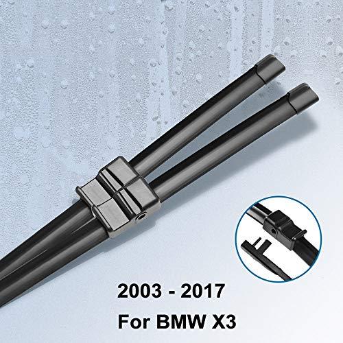 JIRENSHU Wischerblätter, für BMW X3 E83 / F25 2003 2004 2005 2006 2007 2008 2009 2010 2011 2012 2013 2014 2015 2016 2017