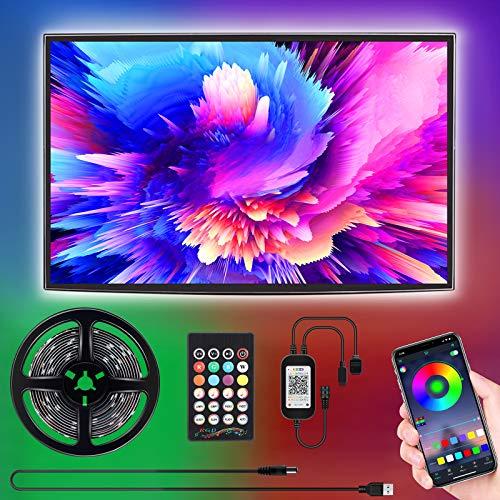 Led TV Hintergrundbeleuchtung, SUNGYIN 3M USB Led Beleuchtung mit Fernbedienung Und DIY Farbwechsel RGB LED Streifen für 46-60 Zoll HDTV,TV,PC Bildschirm [Energy Class A++] (3m)