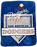 Northwest MLB Los Angeles Dodgers Royal Plush Raschel Throw, One Size, Multicolor