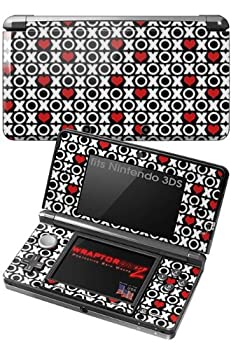 Nintendo 3DS Decal Style Skin - XO Hearts