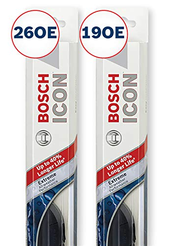 Bosch ICON Wiper Blades (Set of 2) Fits 2013-06 Volvo C70; 2018-16 BMW 740i; 2018-17 530i & More, Up to 40% Longer Life