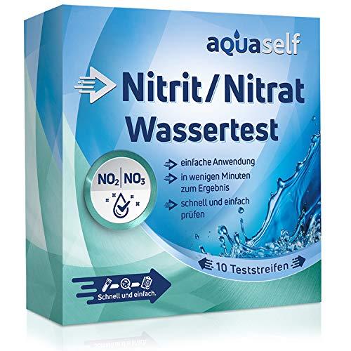 aquaself Wasser Testset: 10 Teststreifen zum Nachweis von Nitrat und Nitrit. Schnelltest zum einfachen Check der Wasserqualität