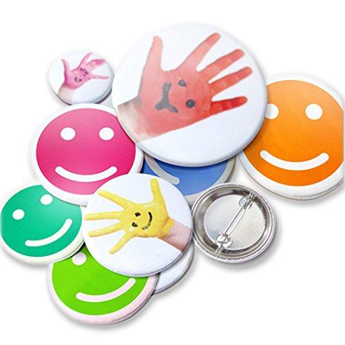Kopieerladen button/badge pin/aansteker zelf maken met eigen foto, motief of spreuk, rond, Ø 25 mm, 25 stuks, ideaal voor logo's en smileys