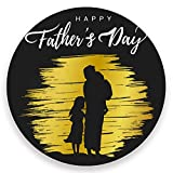Vnurnrn Posavasos redondo con base de corcho para bebidas con texto en inglés «Happy Father's Day Man Kid para el día del padre»