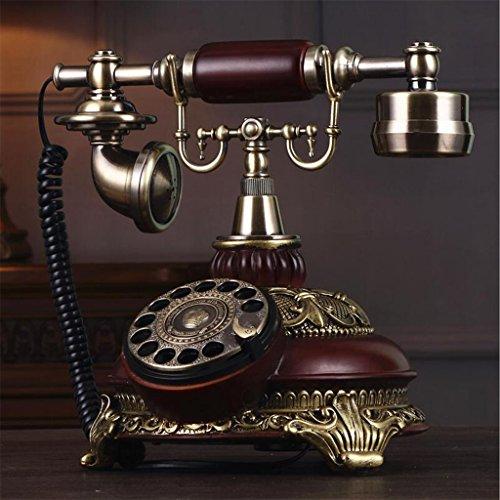YSNUK Teléfono, teléfono Retro Antiguo de la Mesa giratoria teléfono de la Oficina jardín teléfono Fijo Teléfono rotatorio (Color : C)