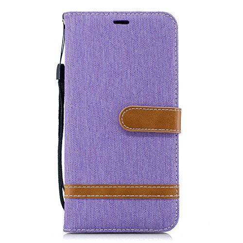 Generic Handyhülle für iPhone XS Max Hülle Leder Schutzhülle Brieftasche mit Kartenfach Magnetisch Stoßfest Handyhülle Case für Apple iPhone XS Max - XIBIF020135 Violett