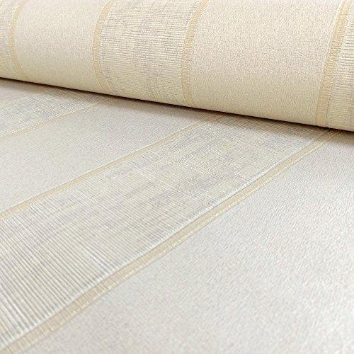 """Muriva 2052110.05m""""en style italien à rayures de luxe épais à coller au mur"""" Papier peint-Blanc-P, beige, 20520, 0 voltsV"""