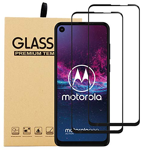 [ 2 Pack ] BestAlice for Motorola Moto One Action [ Tempered Glass ] Screen Protector, 0.3mm 9H 2.5D Round Edge Anti Explosion HD Clear Bubble Free Protective Guard Film