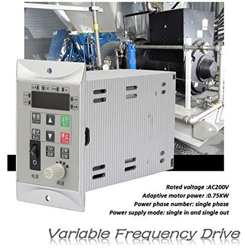 Frequentieregelaar AC220V 0.75KW 1HP, PWM PID CNC eenfasige frequentieregelaar omvormer, spanningstype, meervoudige bescherming voor motortoerentalregeling