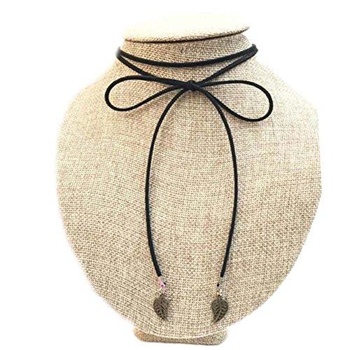 Collier de mode Belle corde noire Cordes