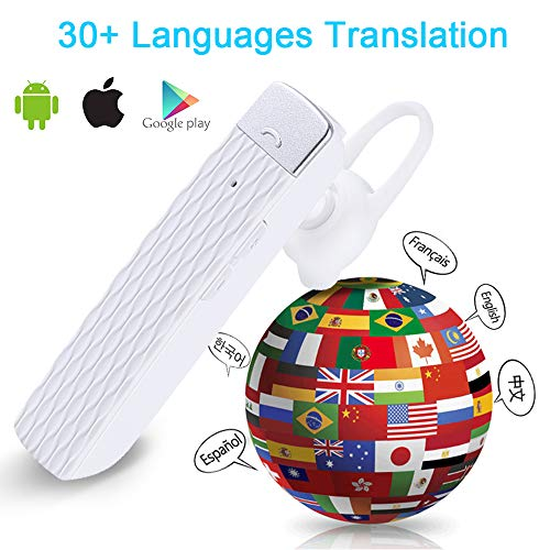 MOSTOP Bluetooth Translator Earbuds Smart Wireless Translation Device Intelligent Headset Instant Portable Translator Suit to Andriod & iOS Real Time Language Translator (White) Photo #6