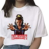 Camiseta Stranger Things Niña, Camiseta Stranger Things Mujer Impresión Manga T-Shirt Impresión Deporte Casual Abecedario Chicas Regalo Camisetas y Tops Series de Television Regalos (2,S)