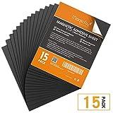 Magicfly Feuille Adhsive Magntique Autocollante Plaque Aimante 0.5mm Flexible pour Photos d'Artisanat DIY Couper Art (203mm x 254mm, 15pcs)