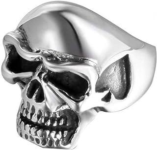 Anello Uomo Titanio Cinturino Peach Heart Skull Ogni Giorno, WLG, acciaio, taglia 8