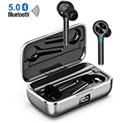 Wireless Earbuds Bluetooth 5.0,Bluetooth Earbuds in-Ear Stereo Wireless Headphones Touch Control Hand-Free Calling Noise Reducion Waterproof IPX6 Headset Built-in Mic for Sport Workout