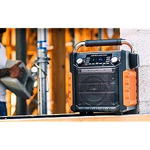 ION Job Rocker Max Wireless All-Weather Rugged 50 Watt Bluetooth Radio Speaker
