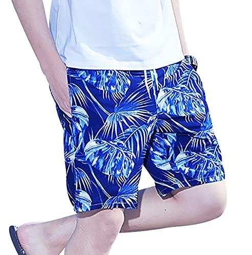 OADOBKICE Herren Sport Shorts Karo Hose Lässiger Shorts Herren Wasserdicht Shorts Herren Bunt Kurze Hose Herren Joggen Hosen Männer Blau Kurze Hose Herren Billig Kurze Hose Herren 208Tropenblau 6XL