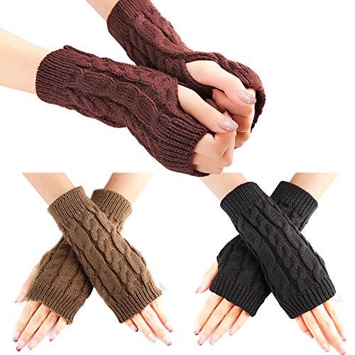 WXJ13 3 paar vingerloze handschoenen warme arm handschoenen winter gebreide haak handschoenen cadeau voor vrouwen en meisje