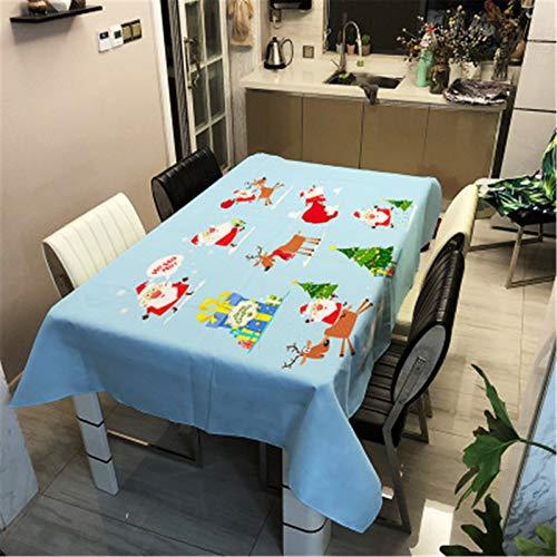 QINQI Mantel Decorativo Impreso NavideñO con Mantel Rectangular Grueso A Prueba De Aceite para Mesa De Comedor, Mantel De Té 140x200CM