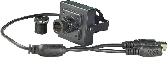 BlueFishCam Mini CCTV Camera Wide Angle 2.5mm Lens (with 3.6mm for Spare) CMOS 600TVL with IR Filter Mini CCTV Camera Colo...