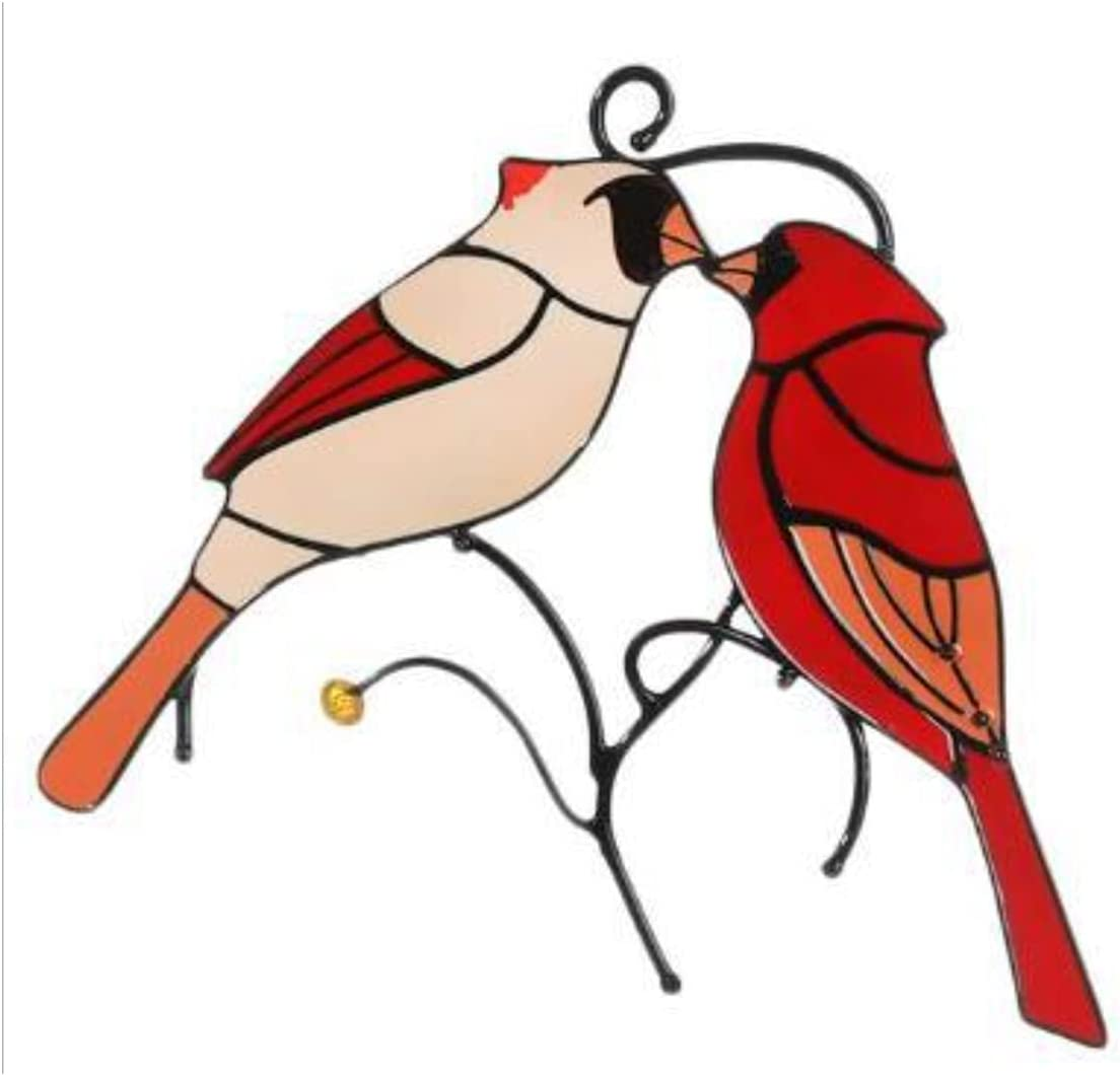 Love Bird Shape Art Ornaments Quantity limited Wrought Stained Garde It is very popular Iron Pendant