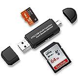 TedGem tarjeta de memoria SD / lector de tarjeta SD, Micro USB, OTG a USB 2.0 Adaptador con estándar USB macho, Micro USB macho conector para PC y portátiles Smartphones/Tablets con función OTG