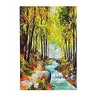 風景油絵川 木製パズル300ピース楽しいパズル減圧パズル300ピースバースデーギフトホリデーギフト