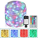 Outdoor String Lights,80 Ft Rope Lights 240 LEDs Color Changing Lights with Remote,...