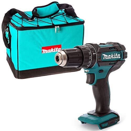 Makita DHP482 18V Cordless Combi Drill with 831327-5 16'/41cm Canvas Nylon Bag