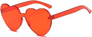 UROSA Women Fashion Heart-shaped Shades Sunglasses Integrated UV Candy Colored Glasses