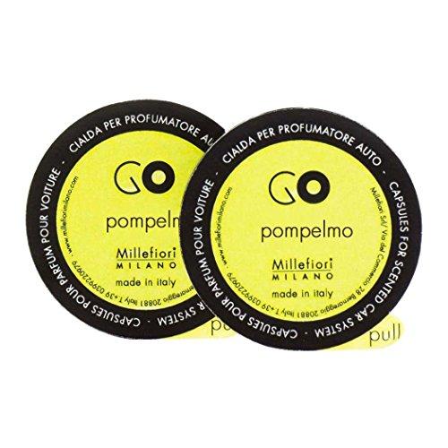 Millefiori Milano 13RGPO Capsule Pompelmo Ricarica per Deodorante per Auto Go