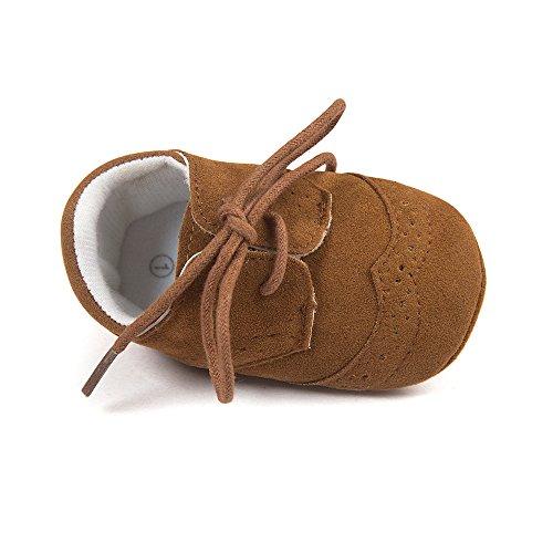 Matt Keely Baby Jungen Mädchen Weiche Sohle Turnschuhe Kind PU Schnüren Schuhe 6-12 Monate