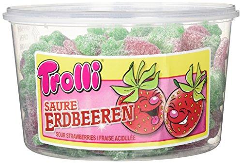 Trolli Saure Erdbeeren, 2er Pack (2 x 1.2 kg)
