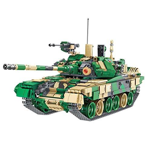 TOPD 1773pcs Block Block Tank, T90 Military Military Model Kit para niños y Adultos, Montaje de Bloques de construcción e inserción de Juguetes de cumpleaños