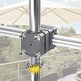 4smile Support Parasol pour Balcon – Sunnyguy, Le Robuste – Pied de parasols pour Balcon d'Un diamètre de 2,50 m ou 2 x 1,25 m – Peu encombrant, Solide