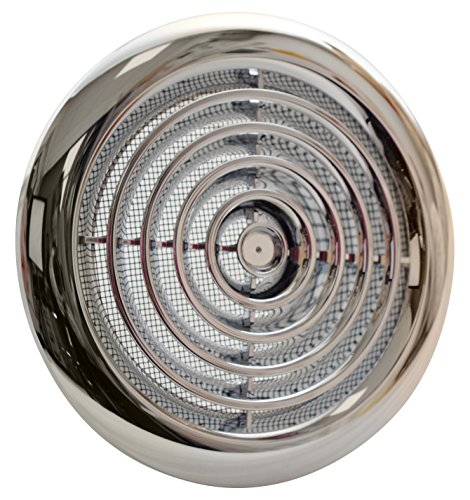 Blauberg - Griglia di ventilazione interna, rotonda, cromata, 100 mm, UK DPR 100, DPR 100 CHROME